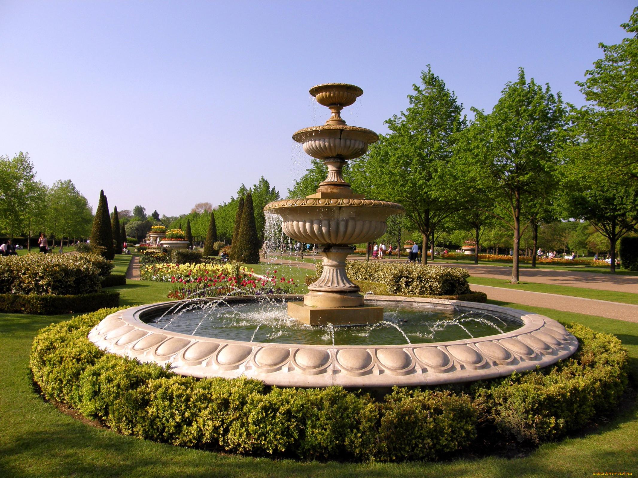 Картинки фонтаны в парке
